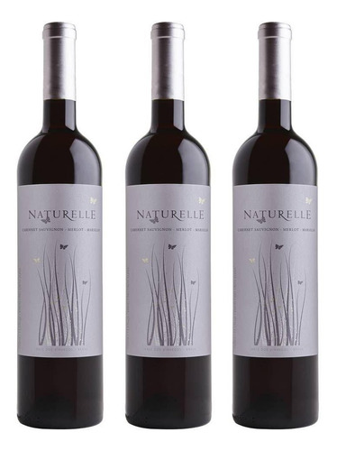 Imagem 1 de 3 de Kit 3 Vinho Tinto Suave Naturelle Casa Valduga 03 Unidades