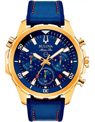 Relógio Bulova Masculino Esportivo Marine Star 97b168 Nfe