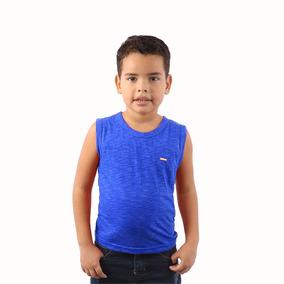 Lote 5 Camisa Lisa Regata Infantil Masculino Kids Colorida