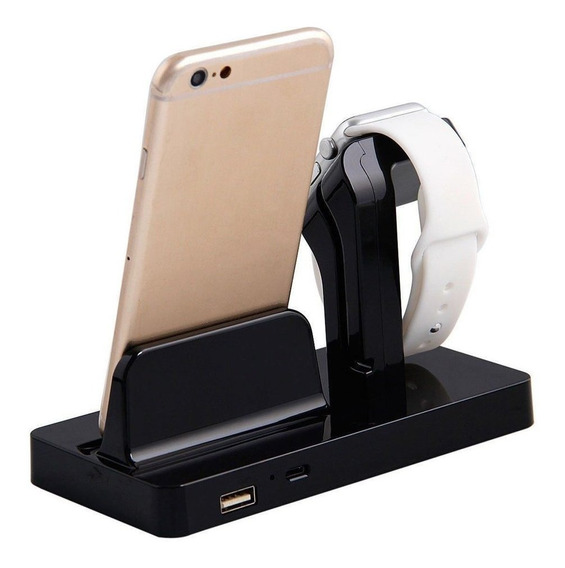 2-in-1 Charging Dock Stand Charger Abs Holder For Apple Watc