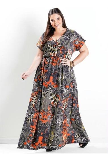 Vestido Plus Size Longo Moda Evangélica Gordinhas