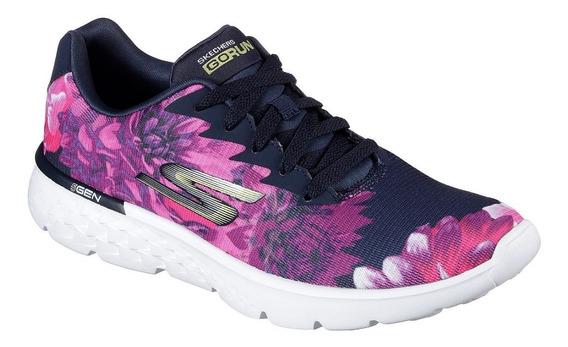 Skechers Zapatilla Running Mujer Go Run 400 Strive Azul
