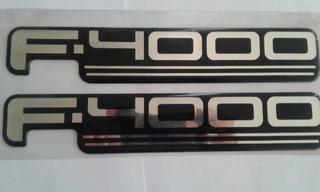 Emblema Insignia Logo Ford F4000 Original Legitimo!!