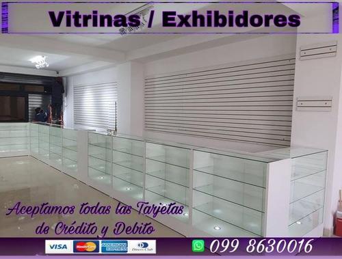Imagen 1 de 10 de Fabricantes De Vitrinas Exhibidor Ranurados Remodelacion
