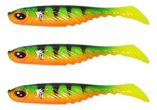 Kit 3 Señuelos Pesca Caster Goma Pez Soft Minnow Tarariras