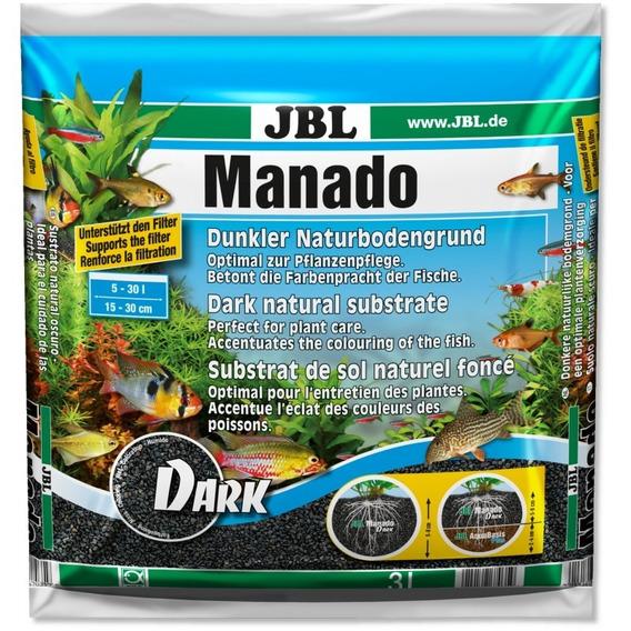 Substrato Jbl Manado Dark 10l - Plantados Grama 10 Litros