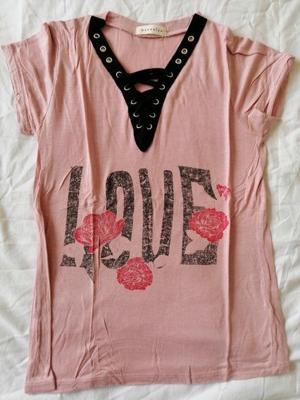 Remera Mujer Love Rosas