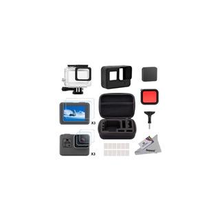 Kit Accesorio Micas,carcasa,estuche Silicon Gopro Hero 5,6,7