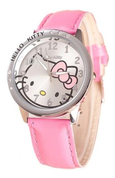 Relógio Feminino Hello Kitty Infantil Juvenil Lindo Promoção