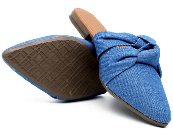 Sapatilha Feminina Mule Jeans Confortável Cod: 189