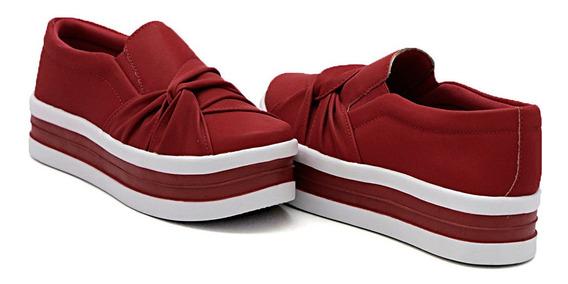 Slip On Feminino Mod Nó Lateral Plataforma Dk Shoes