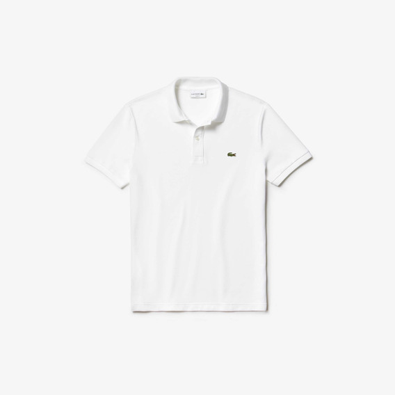 Polo Lacoste Color Blanco En Corte Slim Fit Nueva Y Original