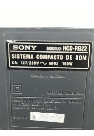 Placa Principal Lateral Do Som Sony Hcd Rg 22