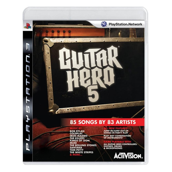 Guitar Hero 5 Ps3 Mídia Física Pronta Entrega