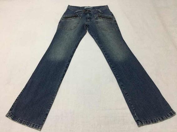 Calça Jeans Casual Costume Tamanho 36 Azul Bom Estado Sacola