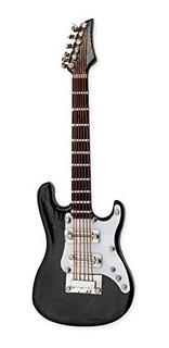 Negro Guitarra Electrica Miniatura Replica Iman Tamaño 4 Pul