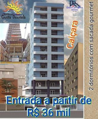 Apartamento Para Venda Em Praia Grande, Caiçara, 2 Dormitórios, 1 Suíte, 1 Banheiro, 1 Vaga - Ap00016