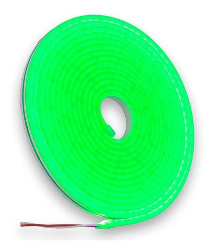 Imagen 1 de 4 de Tira Led Gel Neon Flexible Rollo 5 Metros Varios Colores