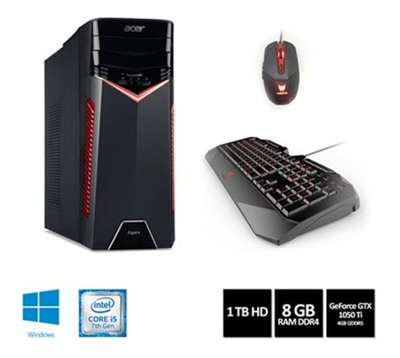 Desktop Gamer Acer Gx-783-br11 I5-7400 8gb 1tb Placa Video