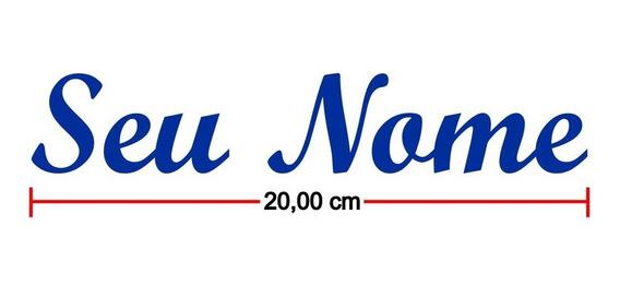 Adesivo Meu Nome Frase Minha Logo Personalizado Até 30 Cm