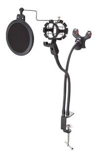 Kit Para Grabar Audio 3 En 1 Base Microfono Filtro Anti Pop