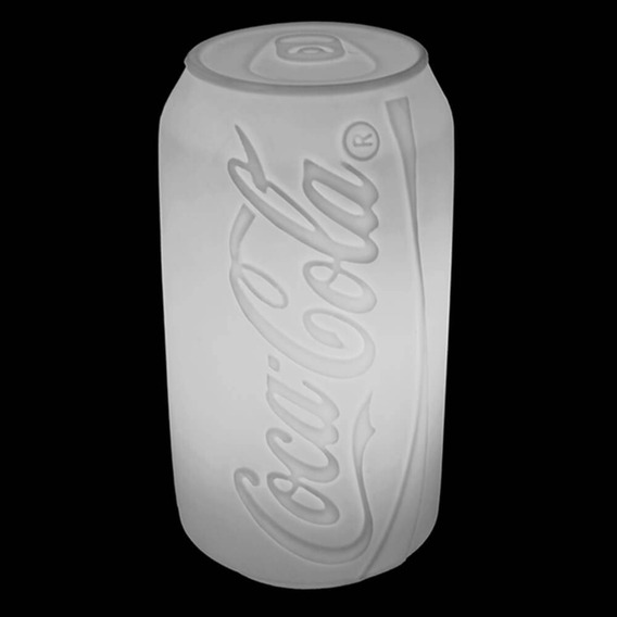 Luminária Coca Cola De Mesa Formato De Lata Bivolt