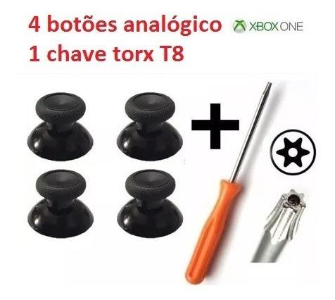 Kit 1 Chave Torx T8 + 2 Pares Botão Analógico Xbox One