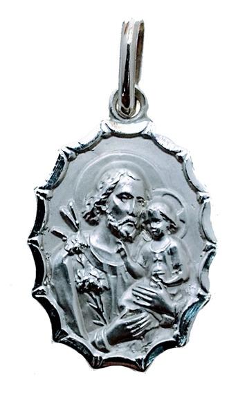 Medalla Plata 925 San José #145 Bautizo Comunión