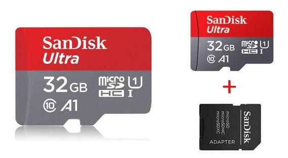 Cartão Sd 32gb Sandisk Classe 10 Ultra 98 Mb/s Com Adaptador