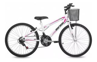 Bicicleta Feminina Aro 24 Mormail Original Confortável Promoção
