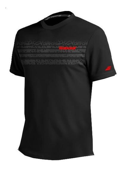 Remera Babolat Hombre T Shirt Team Negro