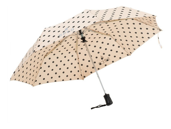 Paraguas London Lunares Negro