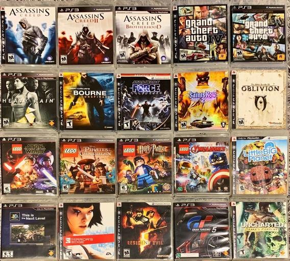 Jogos Mídia Digital Ps3 Bloqueado Aproximadamente 300 Jogos