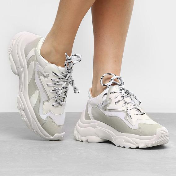 Tênis Zatz Feminino Chunky Sneakers Zatz White 33 Ao 43