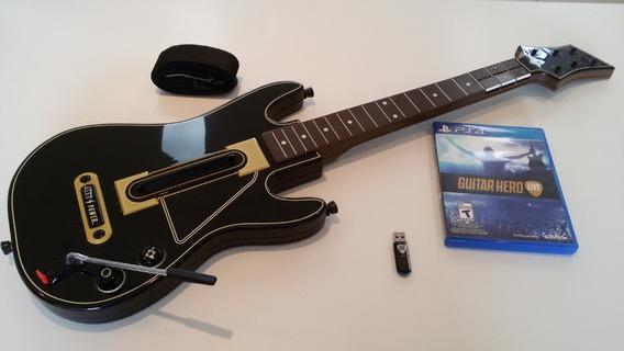 Guitar Hero Live Ps4 Kit Completo Usado Sem Caixa