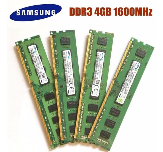 Memoria Samsung Ddr3 4gb 1600 Intel/amd 1rx8 Pc3 12800 Gtía.