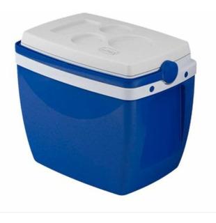 Caixa Térmica 34lt Cooler Tampa C/ Porta Copos