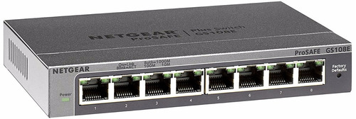 Netgear Gs108e 8 Port Web Gigabit Ethernet Network Switch