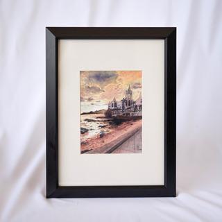 Pintura Acuarela Original De Mazatlán
