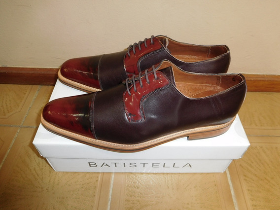 Zapatos Batistella Color Bordo/ch, Acordonado, Num 43