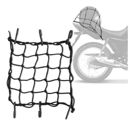 Rede Elástica Aranha Piraval Capacete Carga 35x35 Cm Preta