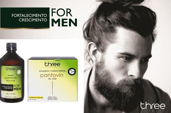 Pantovin For Men Kit Crescimento Barba Cabelo O Biotonico