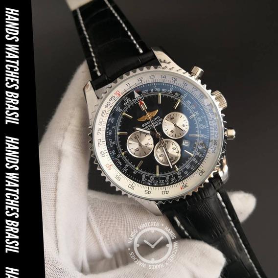 Relógio De Luxo Aço Black Dial
