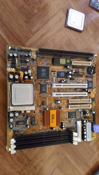 Placa Mãe Sokete7-processador Amd K6 2/400afr P/colecionador