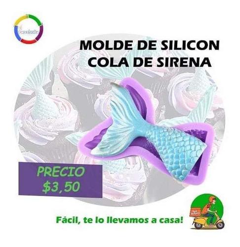 Molde De Silicon Sirena, Porcelana Fria, Fondant,resposteria