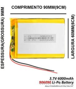Bateria Rastreador Caminhão 6000mah 3,7v 9mmx60mmx90mm