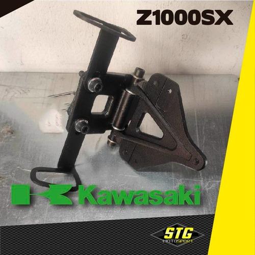 Imagen 1 de 3 de  Portapatente Fender Rebatible Stg Kawasaki Z1000sx 18/19 Cg