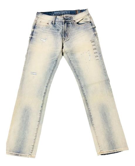 Pantalón Aéropostale De Hombre - Mezclilla Straight