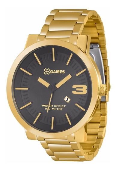 Relógio X-games Masculino Xmgs1007 P2kx Dourado Analógico
