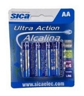 Pila Doble A - Pack X 4 Unidades Sica- Alcalina-